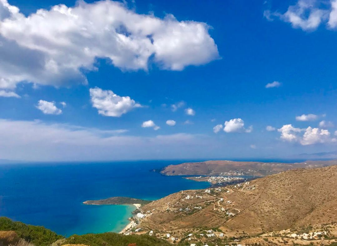The beautiful island of Andros, Greece.