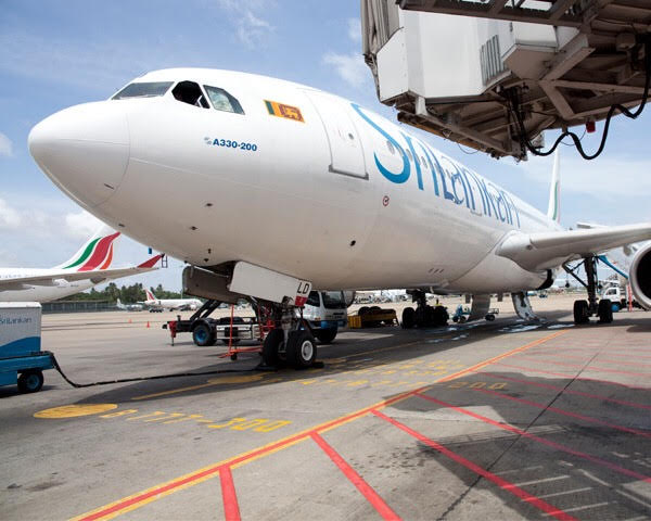 Sri Lankan Airlines Flight from Mumbai to Colombo (Airbus A330).