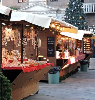 Christmas Market in Florence, Italy.