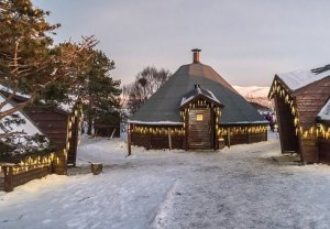 Christmas in Tromsø, Norway.