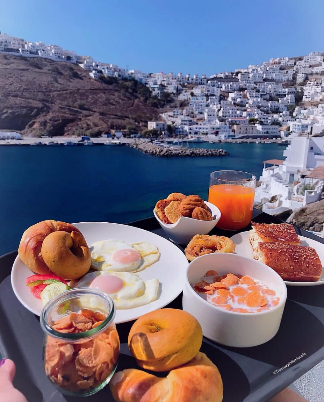 Breakfast with a view, Astypalea, Greece.