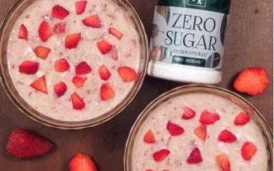 Instant Strawberry Rabri Recipe using Tata Nx Zero Sugar