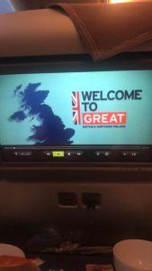 Modern In Flight Entertainment System, British Airways.