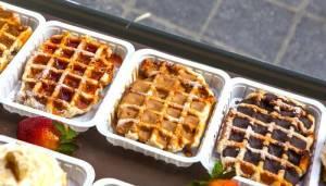 Sirop De Liege over waffles.
