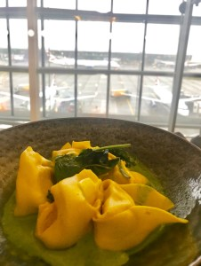 Handmade Tortellini from the Concorde Room restaurant.