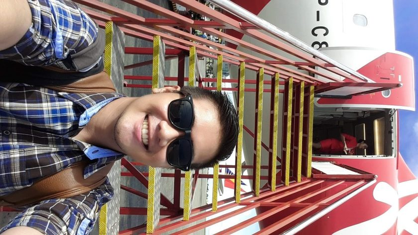 Chubby Chinito off to the skies! Hopefully not too heavy for flight. Salamat DAVAO!