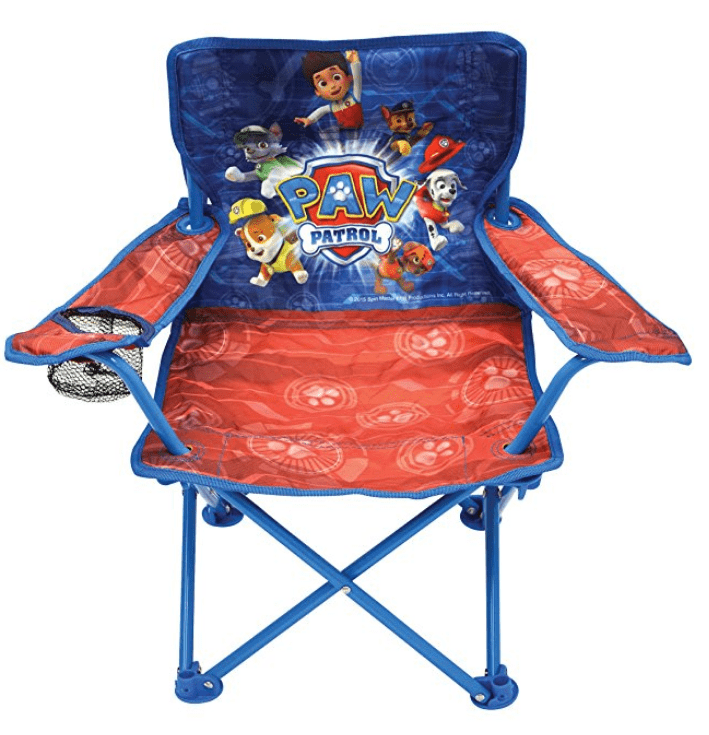 paw patrol beach camp chair for toddlers