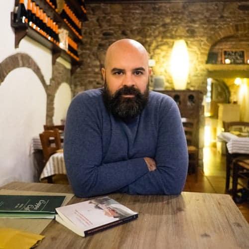 Ivano Porpora, scrittore, durante l'intervista
