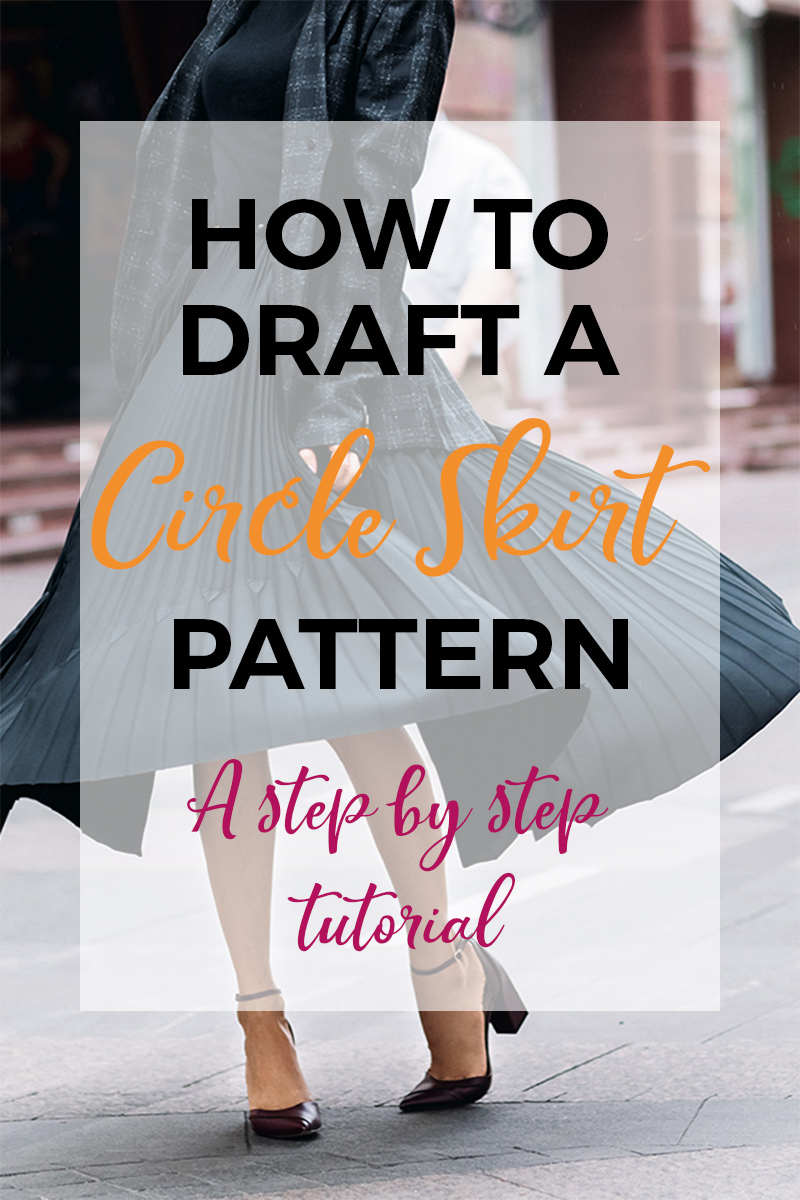 A full circle skirt is one of the easiest things to make when summer hits. Learn how to make a circle skirt pattern with this tutorial and you'll be sewing up circle skirts in no time! A perfect summer wardrobe staple! #sewing #sewingprojects #sewingskirts #easysewingprojects #easyskirts #circleskirt #sewinginspiration