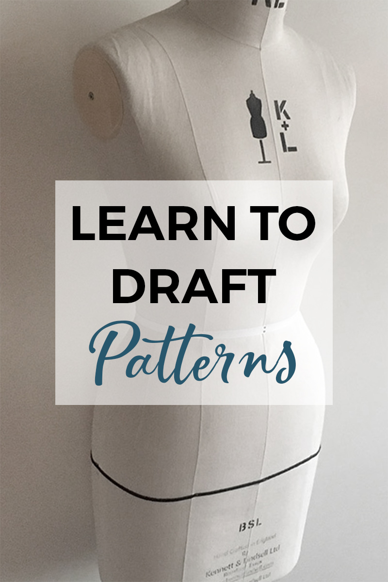 Learn how to draft pattern blocks with Pattern Making Basics! This text course provides you one lesson per day, so that you can start making your own pattern blocks or slopers! Great for anyone that would love to start drafting their own sewing patterns! #patternmakingbasics #patterndrafting #learnpatternmaking #sewingpatterns