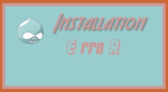 Installation Error in Drupal