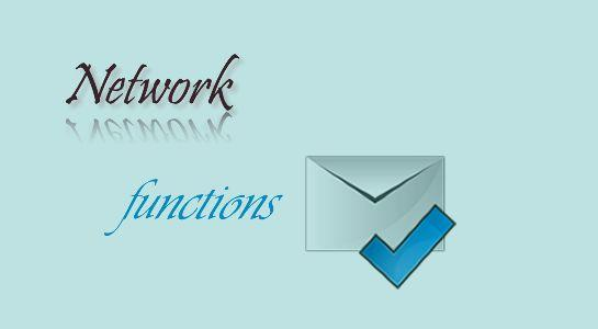 Check Email address using Network Functions