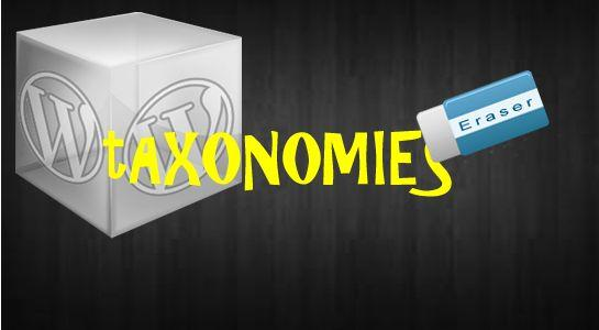 To Delete Taxonomies from database in wordpess