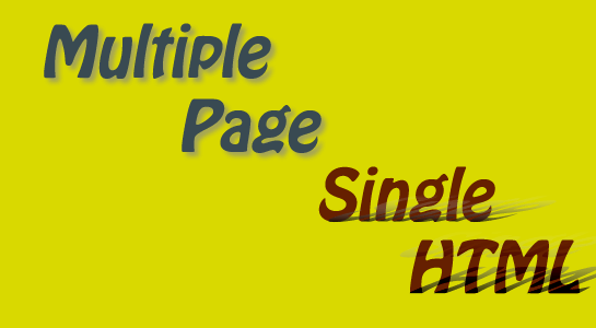 How to call Multiple Change Page in Single HTML