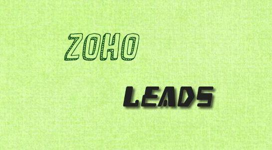To create zoho leads using PHP
