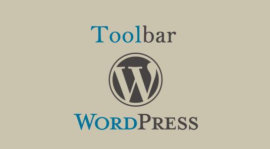 how to hide WordPress Toolbar