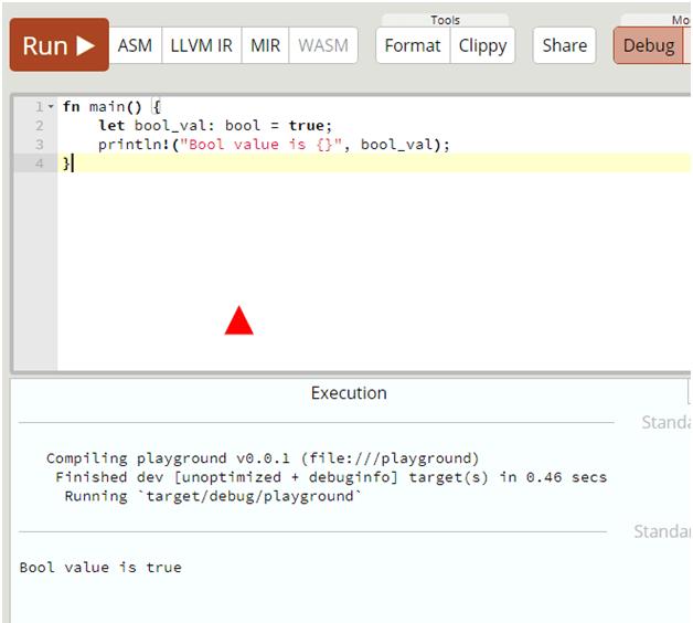 bool primitive datatype in rust