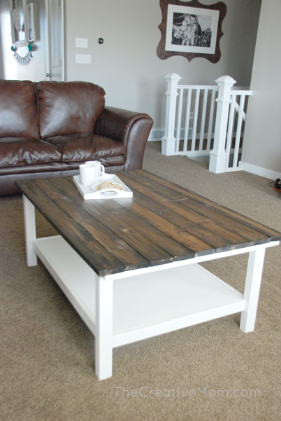 ikea hack- diy farmhouse coffee table - the creative mom