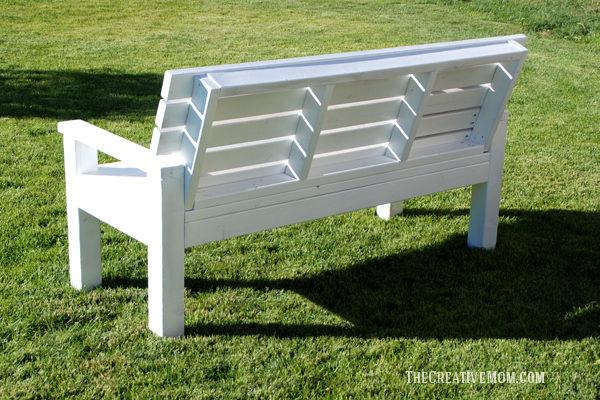 diy sturdy garden bench