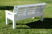 DIY Sturdy Garden Bench- Free Building Plans - The ...