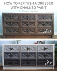 How to refinish a dresser with chalked paint - The ...
