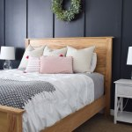 Modern Farmhouse Boho Bedroom Reveal Farmhouse Bed Building Plans The Creative Mom