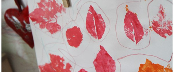 Simple Leaf Printing with Kids