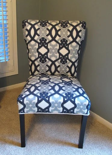 How to Recover a Parsons Style Chair Furniture Revamp