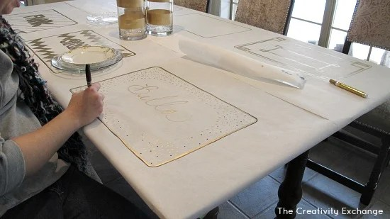 DIY Festive Butcher Paper Tablecloth Happy New Year