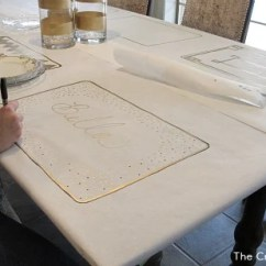 Kitchen Table With Leaf Rooms To Go Islands Diy Festive Butcher Paper Tablecloth {happy New Year}...