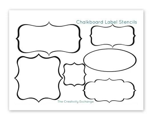 Free Printable Stencils to Make Vinyl Chalkboard Labels...