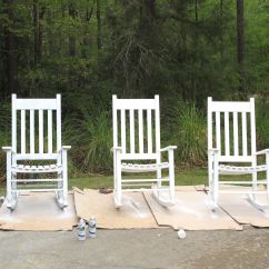 Outdoor Porch Chairs Posture Deluxe Wooden Kneeler Chair My Front Transformed With Spray Paint