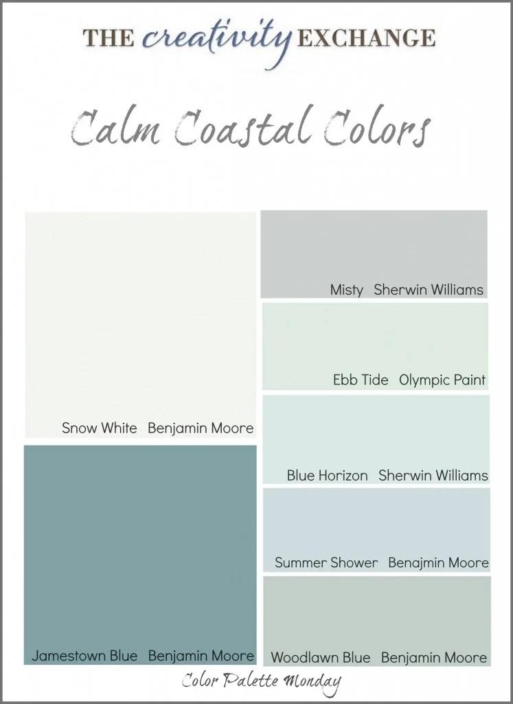 calm coastal paint colors