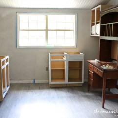 Premade Kitchen Cabinets Shelves Wall Mounted Create Built In Shelving And On A Tight Budget