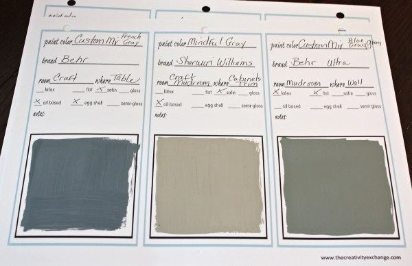 Printable Labels Paint Cans And Color Binder Sheets