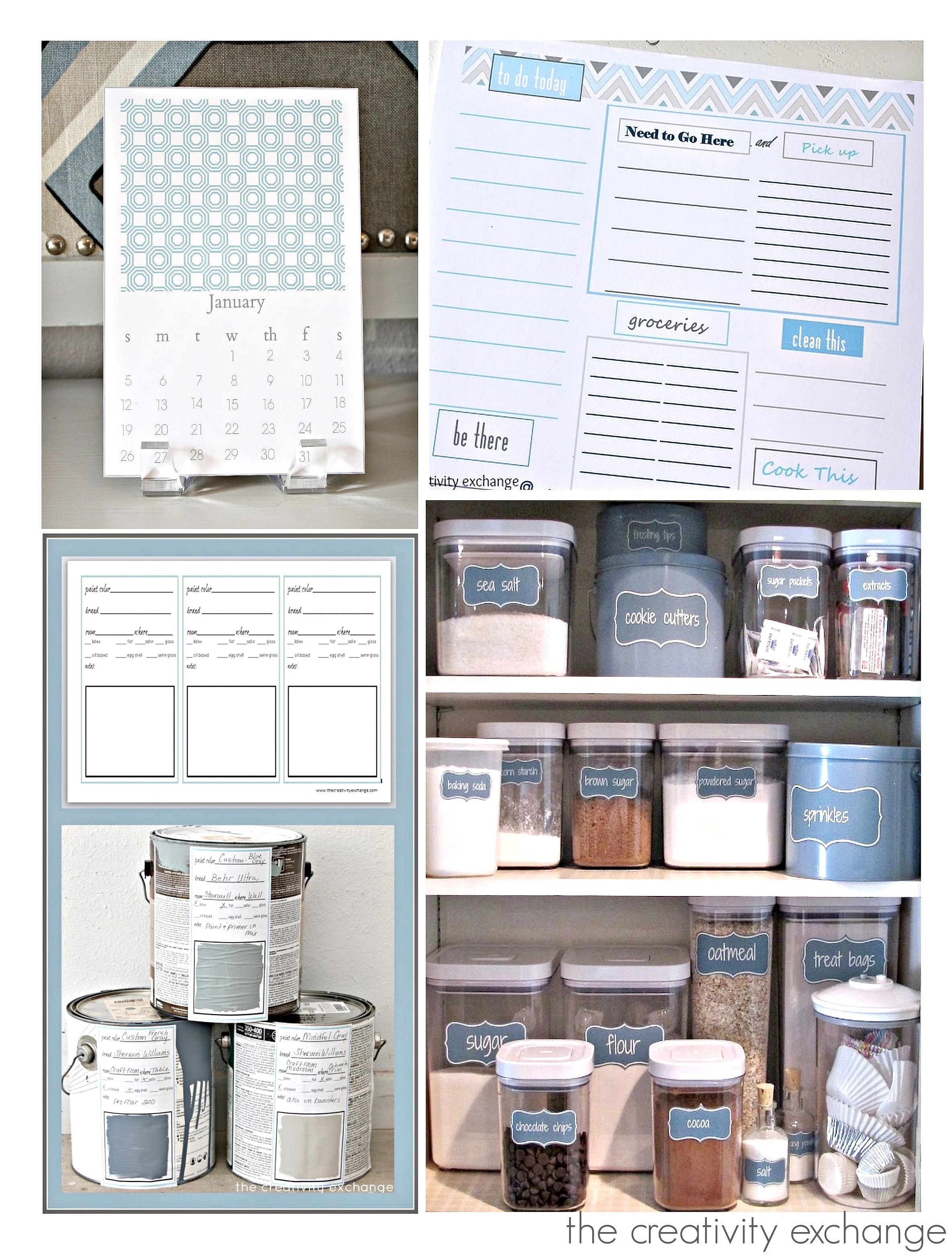 Five Ways To Get Organized With Free Organizing Printables