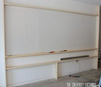 Tutorial for Organizing the Garage with a Pegboard Storage ...