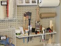 Organizing the Garage with DIY Pegboard Storage Wall