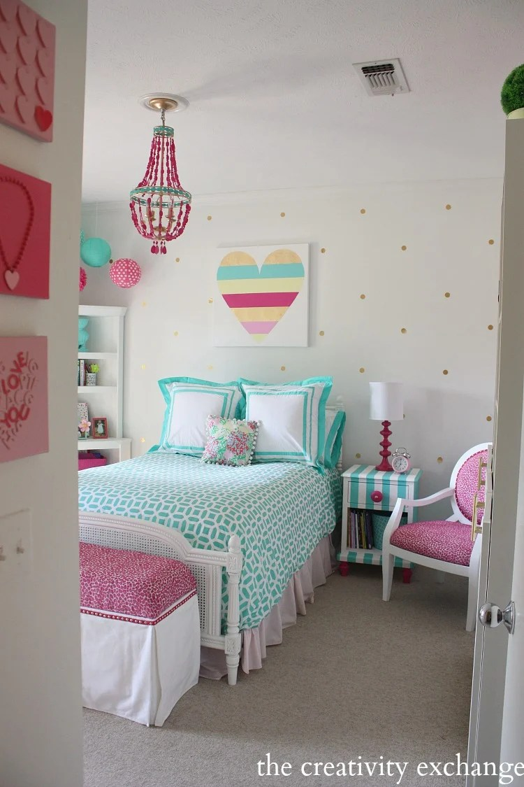 Little Girls Room Revamped to Bright and Bold Tween Room