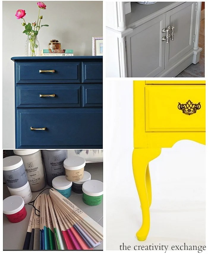Round Up Of Velvet Finishes Furniture Revamps: Paint It Monday