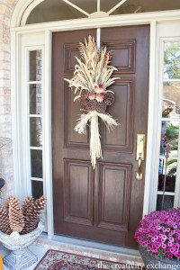 Easy Fall Door Swag Using Dried Naturals