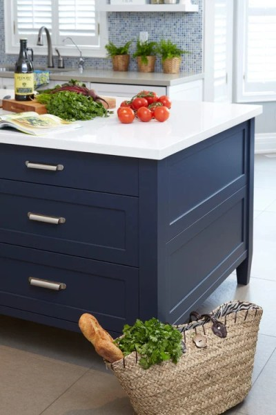 navy blue painted kitchen cabinets Most Popular Cabinet Paint Colors
