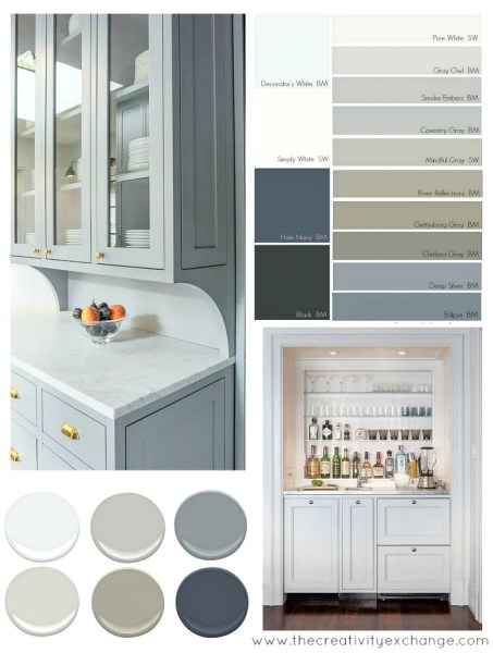 best color for gray kitchen cabinets Most Popular Cabinet Paint Colors