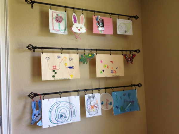 Kids Art Display Wall