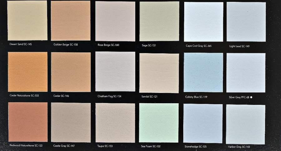 Behr DeckOver Paint Color Choices. Sheet 2