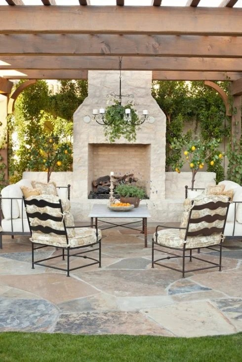 outdoor kitchen with freestanding grill macy's appliances sale creative pergola designs and diy options
