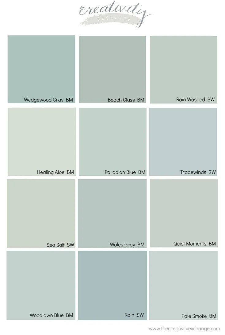 Outside House Paint Color Card