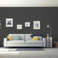 Living Room Wall Colors 2018 Slipcovers For Furniture Of The Year Glidden S Color Is Deep Onyx