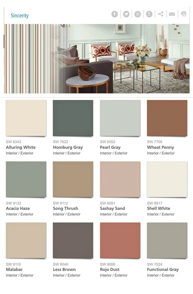 Sherwin Top Paint Interior Williams Colors