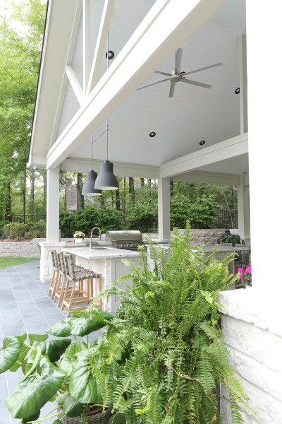 pool house with outdoor kitchen Outdoor Kitchen and Pool House Project Reveal